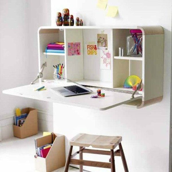 15 SMART SPACE SAVING DESK ideas (14)