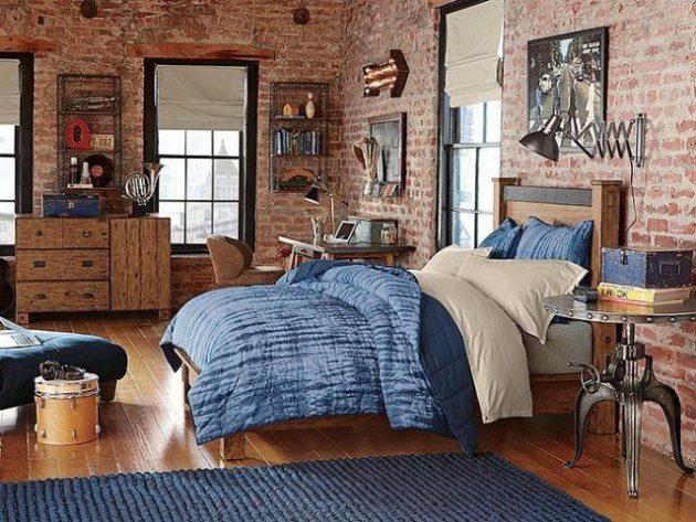 16-bedroom-designs-with-brick-walls (15)