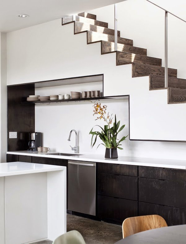 19 SPACE-SAVING UNDER STAIRS KITCHENS YOU NEED TO SEE (7)