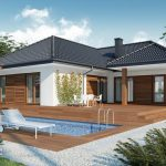 แบบบ้านชั้นเดียวแต่งไม้สวย 3 ห้องนอน 2 ห้องน้ำ พร้อมสระว่ายน้ำส่วนตัวสุดหรู