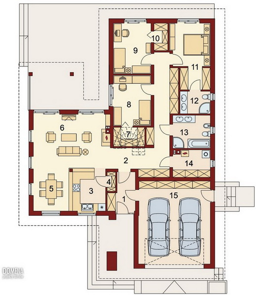3 bedroom modern white house with elegant pool (6)