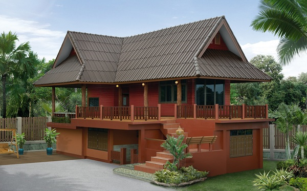 3 bedroom thai contemporary red brick house (1)