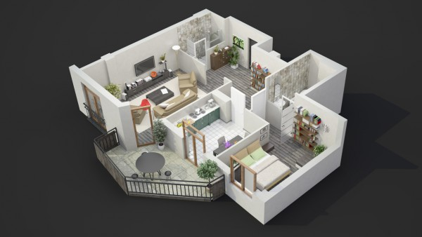 40 2 bedroom house plans (10)