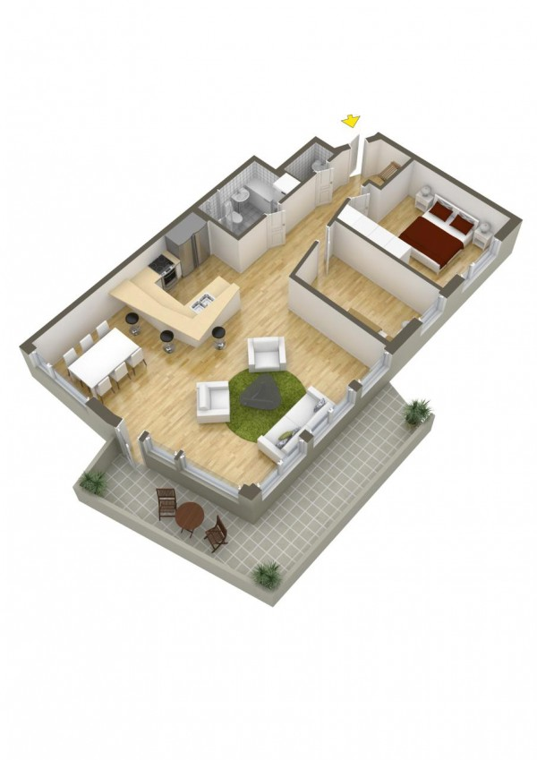 40 2 bedroom house plans (12)