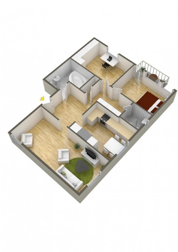 40 2 bedroom house plans (15)