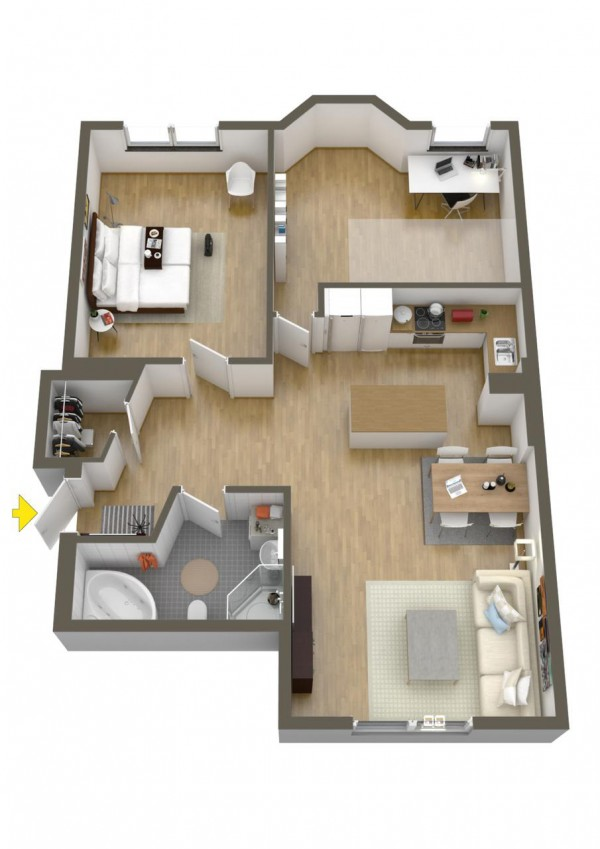 40 2 bedroom house plans (16)