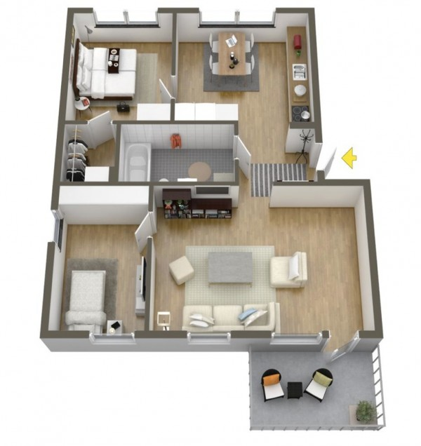 40 2 bedroom house plans (17)