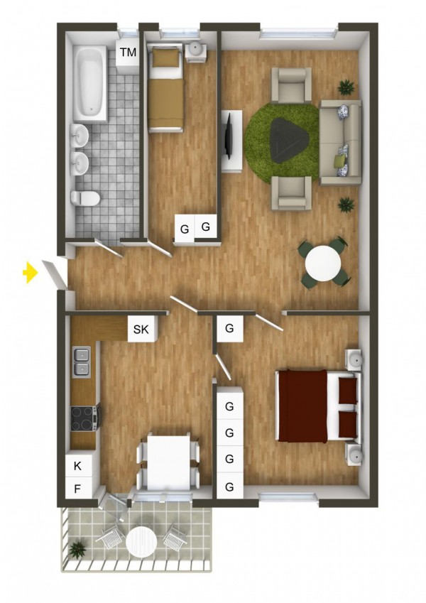 40 2 bedroom house plans (18)