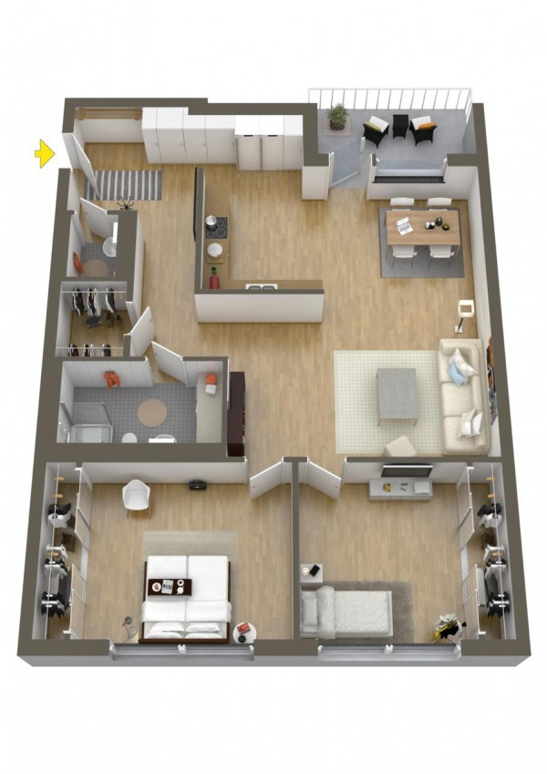 40 2 bedroom house plans (22)