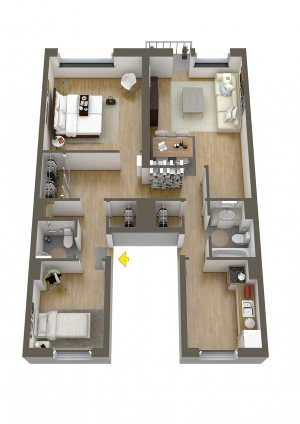 40 2 bedroom house plans (23)