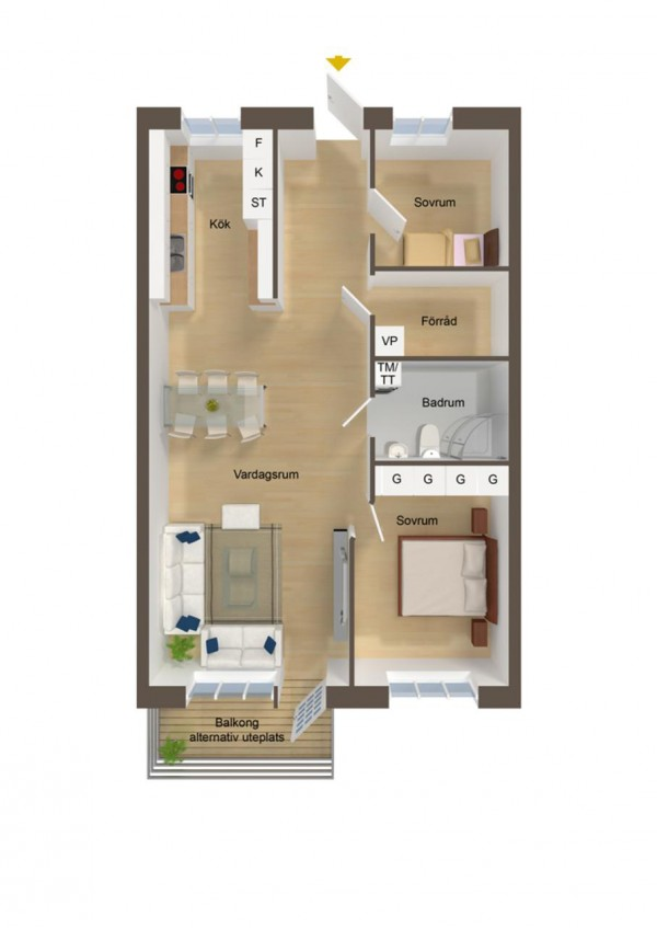 40 2 bedroom house plans (24)