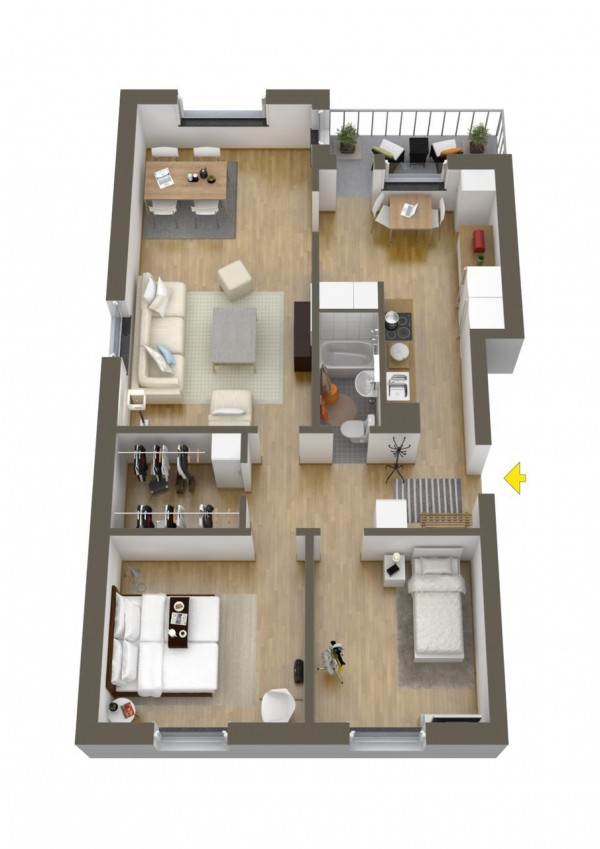 40 2 bedroom house plans (25)