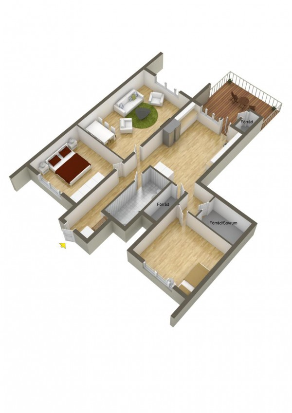 40 2 bedroom house plans (26)