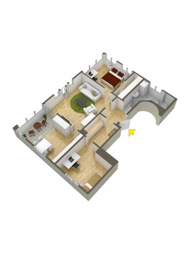 40 2 bedroom house plans (28)