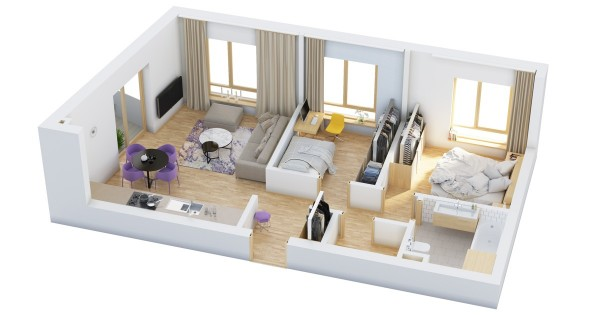 40 2 bedroom house plans (3)