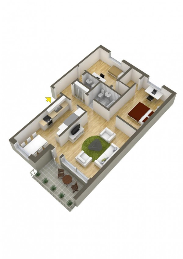 40 2 bedroom house plans (32)