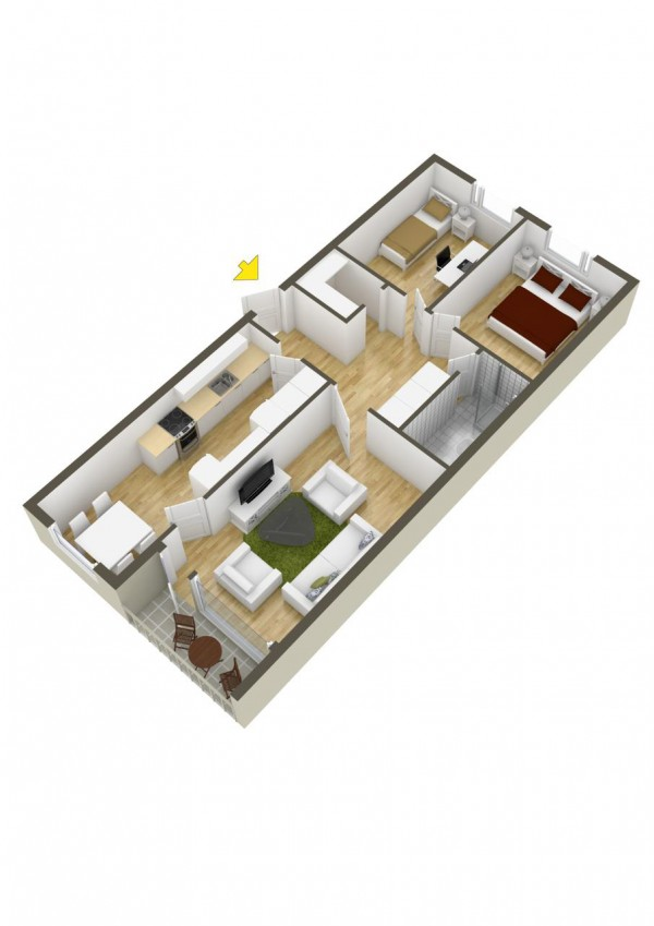40 2 bedroom house plans (34)