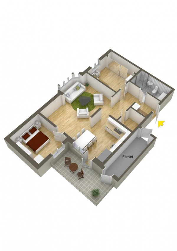 40 2 bedroom house plans (36)