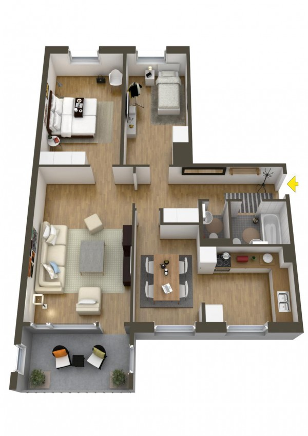 40 2 bedroom house plans (37)