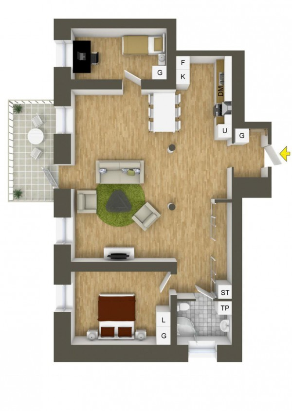 40 2 bedroom house plans (39)