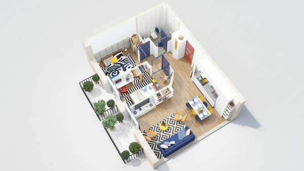 40 2 bedroom house plans (4)