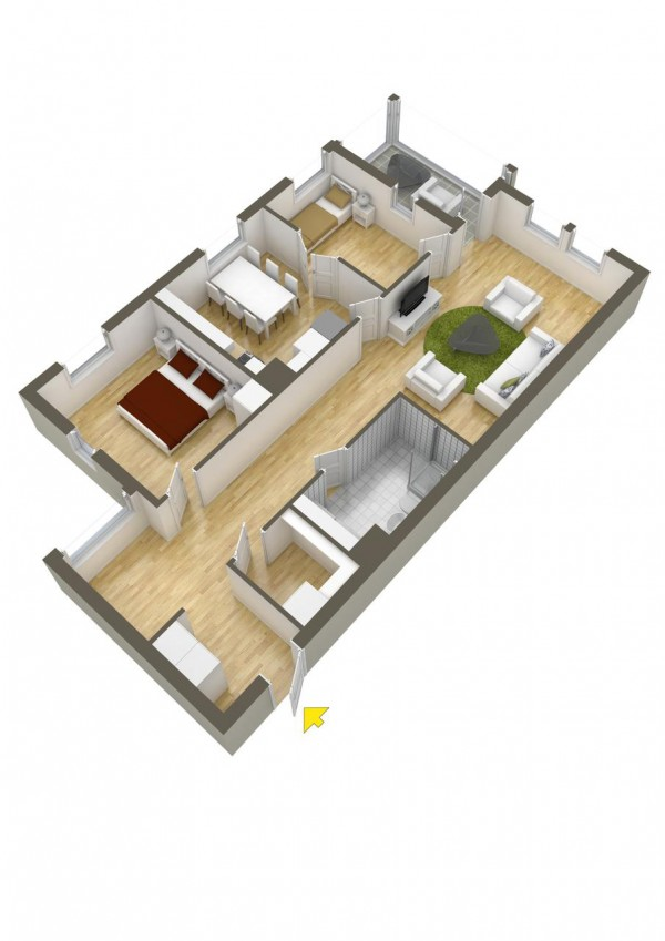40 2 bedroom house plans (40)
