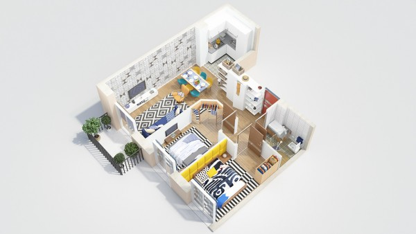 40 2 bedroom house plans (5)