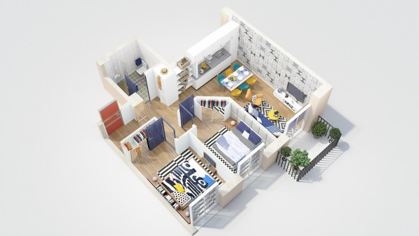 40 2 bedroom house plans (6)