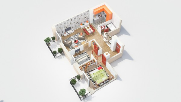 40 2 bedroom house plans (7)