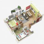 """""""40 แบบแปลนบ้านขนาด 2 ห้องนอน"""" สวย ลงตัว ทันสมัย จัดเต็มฟังก์ชั่นการใช้งาน"""