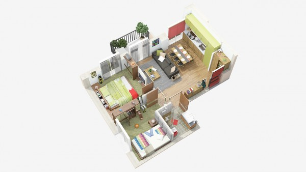 40 2 bedroom house plans (8)