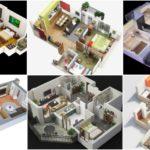 """40 แบบแปลน 3D """"บ้าน 2 ห้องนอน"""" สำหรับครอบครัวขนาดเล็ก จัดเต็มฟังก์ชั่นการใช้งาน"""