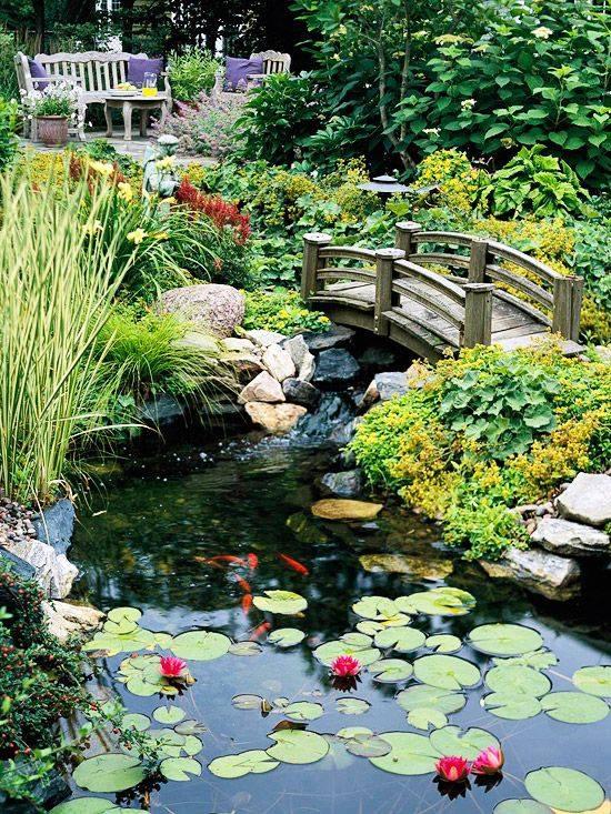 46 beautiful fish pond ideas (30)