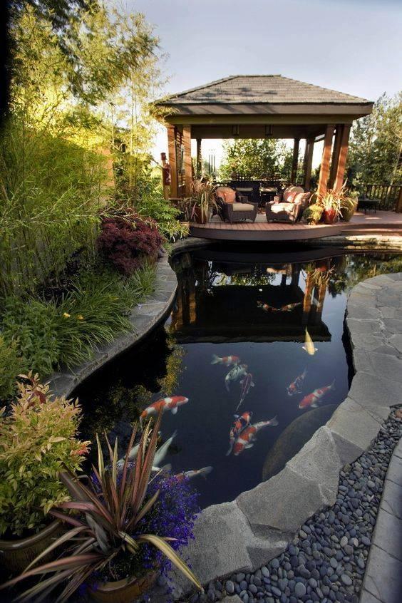 46 beautiful fish pond ideas (37)