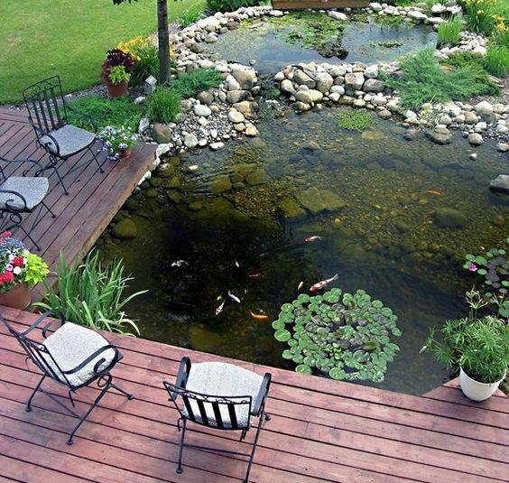 46 beautiful fish pond ideas (46)