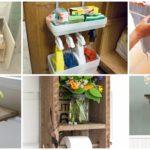 71 ไอเดีย รังสรรค์พื้นที่จัดเก็บของใช้ภายในห้องน้ำ ในแบบDIY ด้วยของใช้ใกล้ตัว