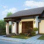 บ้านเดี่ยวร่วมสมัย หลังคาทรงจั่ว ออกแบบรูปทรงหน้าแคบ 2 ห้องนอน 2 ห้องน้ำ