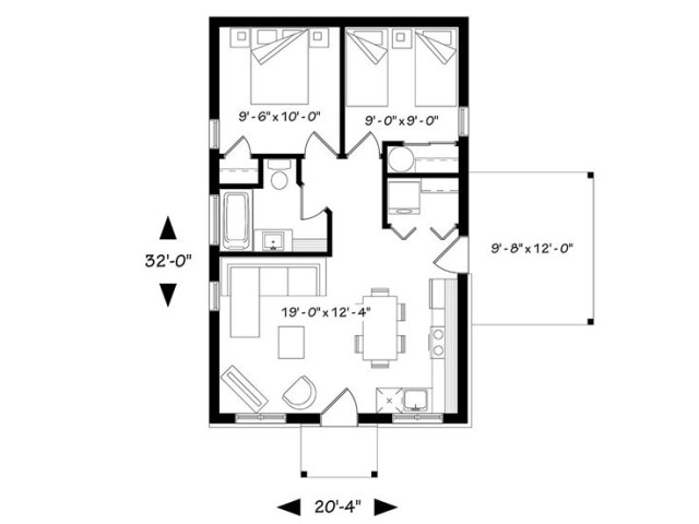 Contemporary House compact size 2 bedroom (1)