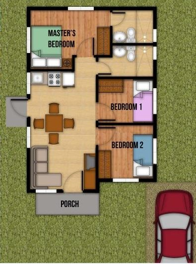 Contemporary compact House 3 bedrooms 2 bathroom (1)