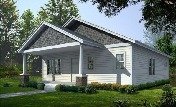 Contemporary home simple design 2 bedrooms (2)