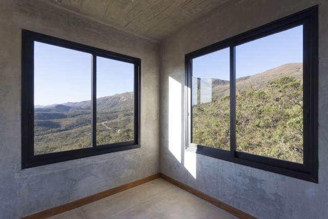 Modern cement houses Airy with natural villa (2)