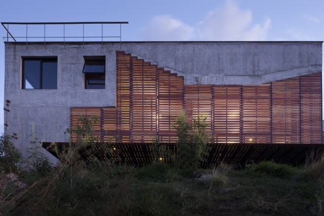 Modern cement houses Airy with natural villa (5)