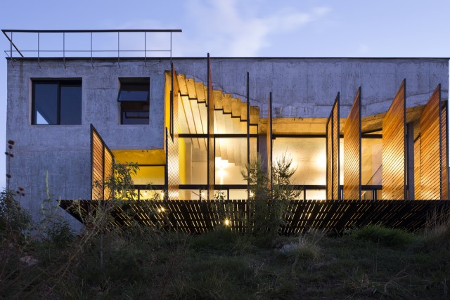 Modern cement houses Airy with natural villa (6)