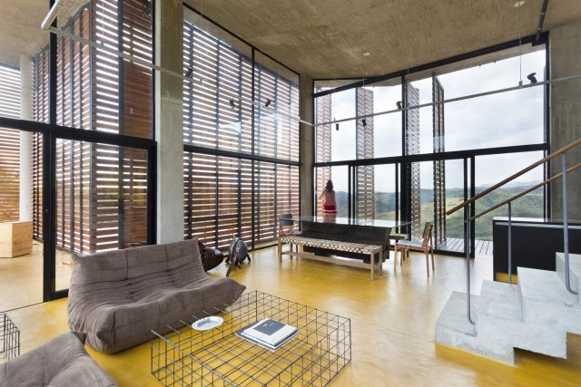 Modern cement houses Airy with natural villa (8)