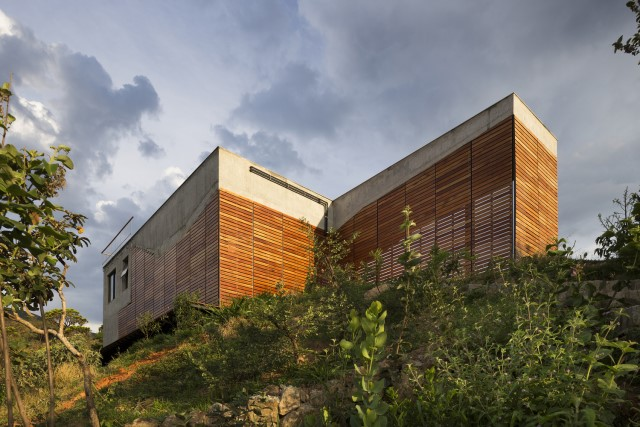 Modern cement houses Airy with natural villa (9)