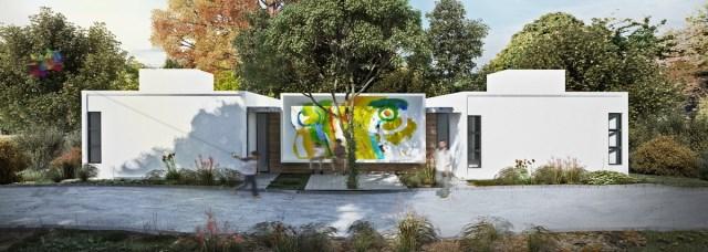 Modern home minimalist style with garden (8)