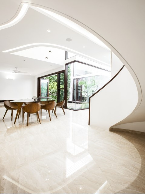 Modern house Beautiful shapes decorated with natural (11)