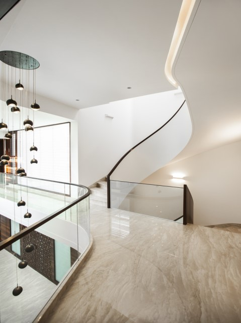 Modern house Beautiful shapes decorated with natural (5)