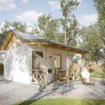 บ้านร่วมสมัยขนาดเล็ก ดีไซน์ภายในแบบสตูดิโอ เหมาะกับการประยุกต์ทำเป็นบ้านสวน