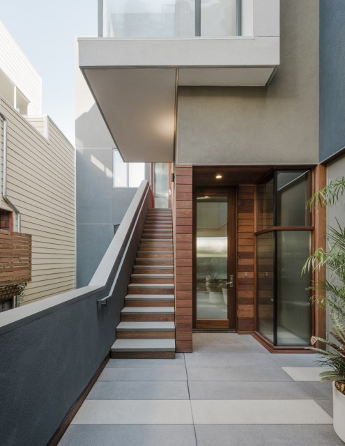 Townhome Modern style Decorated with wood steel and cement (9)
